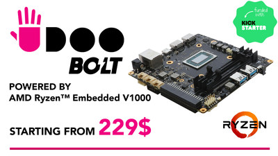 Funded in four hours, UDOO BOLT is rocking on Kickstarter