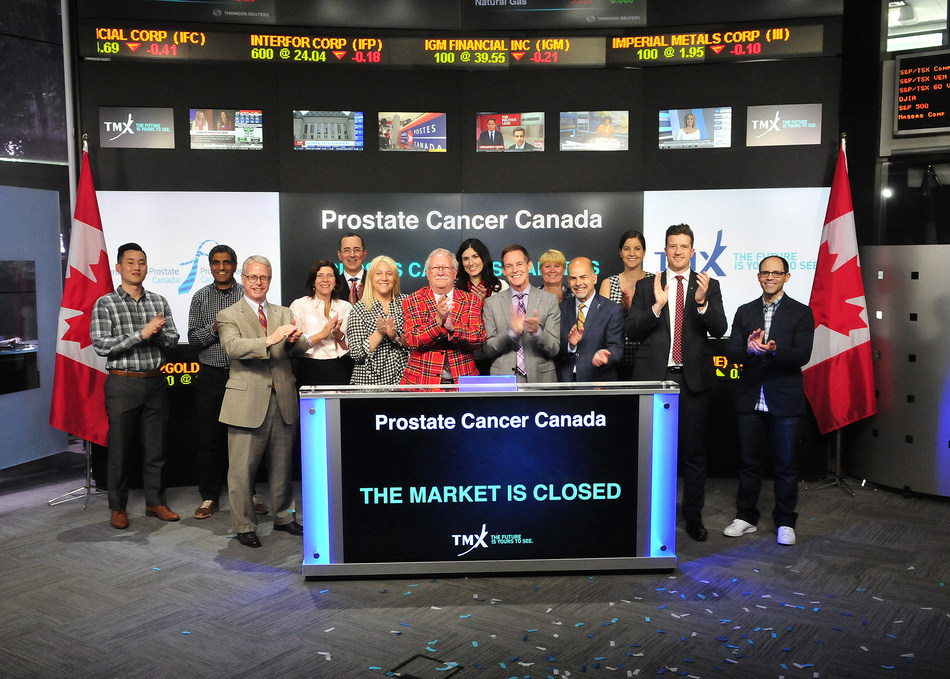 Prostate Cancer Canada Closes the Market (CNW Group/TMX Group Limited)