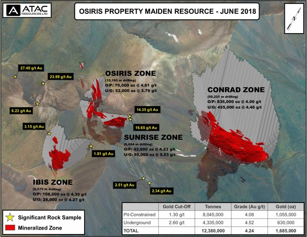 Osiris Project Maiden Resource (CNW Group/ATAC Resources Ltd.)