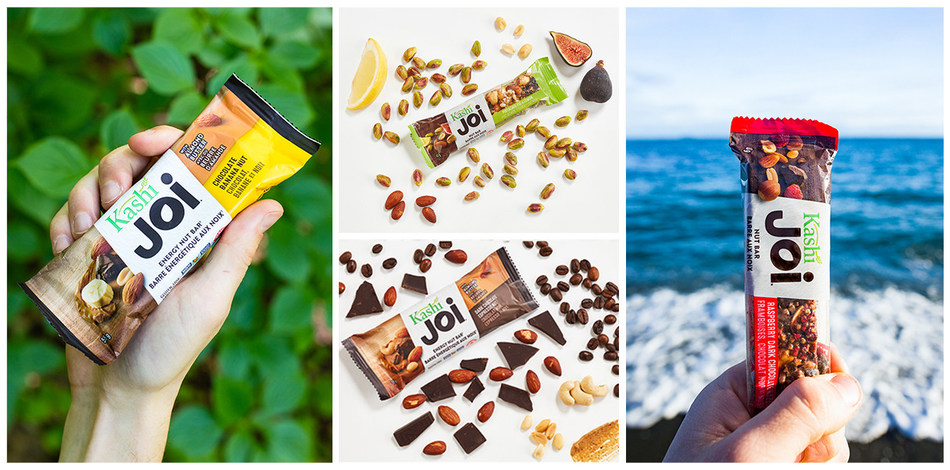 Available in six delicious flavours, new Kashi joi nut bars and energy nut bars are bursting with real, simple ingredients selected with care for both their taste and their inherent nutritional value. (CNW Group/Kashi Canada)