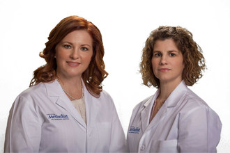 Amy Perilman and Becky McKimmey, certified nurse-midwives at Houston Methodist Willowbrook Hospital.