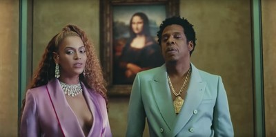 Beyoncé is wearing the Persian Drop set from the Messika High Jewelry collection 'Once Upon A Time' in her new video clip 'Everything is Love'. (PRNewsfoto/Messika Paris)