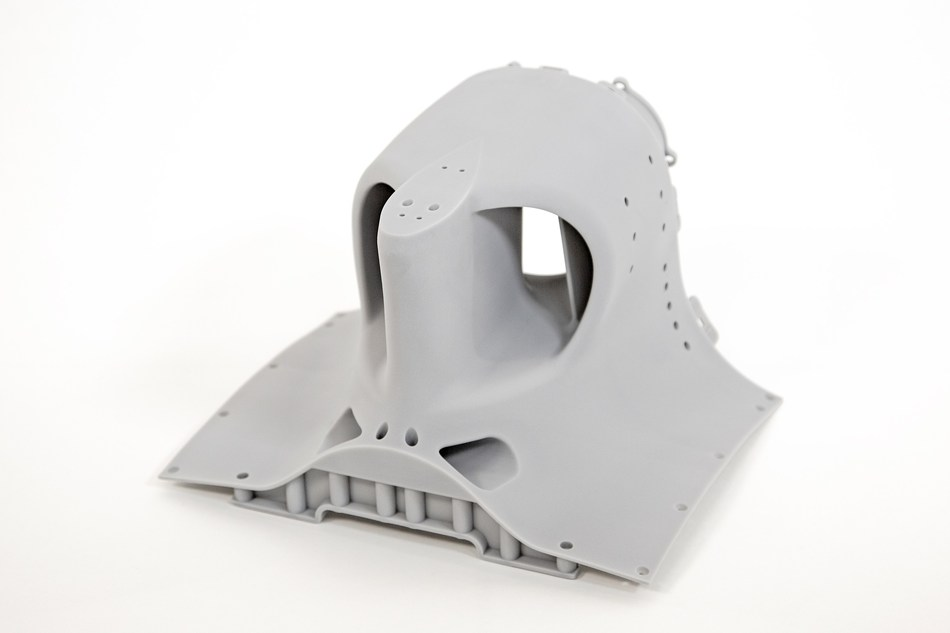 Alfa Romeo Sauber F1® Team's racecar rollhoop part for wind tunnel testing model produced on the 3D Systems ProX 800 SLA 3D printer with Xtreme material