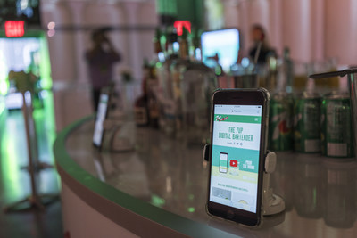 Make summer entertaining easy with Digital Bartender, a new tool from 7UP that helps you unlock unique cocktail recipes from your mobile device. (PRNewsfoto/7UP)