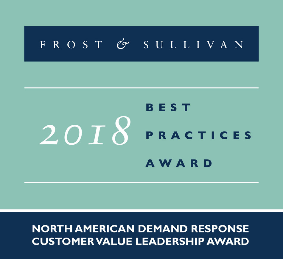2018 North American Demand Response Customer Value Leadership Award (PRNewsFoto/Frost & Sullivan)