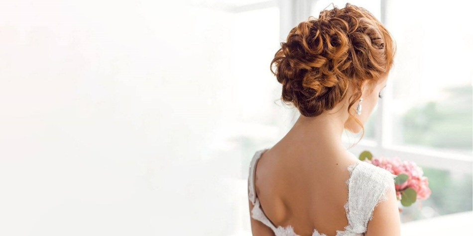 Looped Buns Wedding Hairstyle