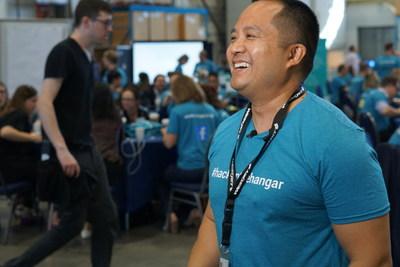 WestJet's Alfredo C. Tan at #hackinthehangar (CNW Group/WESTJET, an Alberta Partnership)