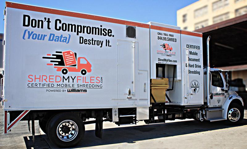 ShredMyFiles.com Mobile Shred Truck