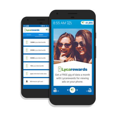 Lycarewards app (PRNewsfoto/Lycamobile)