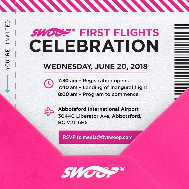 You're invited to Swoop's first flight celebration (CNW Group/Swoop)