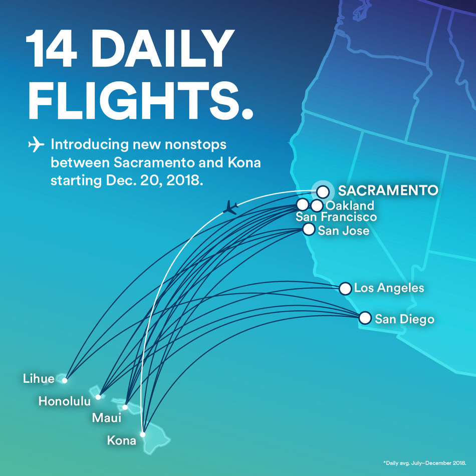 Fly to Hawaii on Alaska Airlines from six California cities.