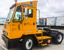 Ability TriModal deploys five (5) Orange EV pure electric terminal trucks to Carson California
