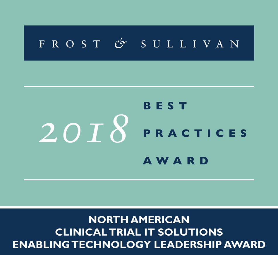 Frost & Sullivan recognizes Oracle Health Sciences with the 2018 North American Enabling Technology Leadership Award for its new eClinical platform, Clinical One™.