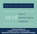 Frost & Sullivan recognizes Oracle Health Sciences with the 2018 North American Enabling Technology Leadership Award for its new eClinical platform, Clinical One™. (PRNewsfoto/Frost & Sullivan)