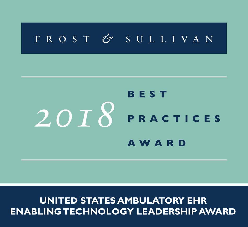 2018 United States Ambulatory EHREnabling Technology Leadership Award (PRNewsfoto/Frost & Sullivan)