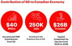 Contribution of 5G to Canadian Economy (CNW Group/Canadian Wireless Telecommunications Association)