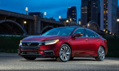 The 2019 Honda Insight offers class-leading power and passenger space, universally appealing styling, as well as an EPA city rating of up to 55 mpg. (PRNewsFoto/American Honda Motor Co., Inc.)