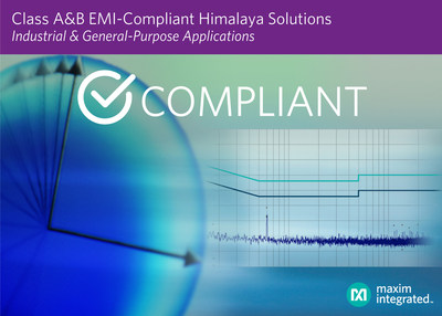 Maxim's portfolio of EMI-compliant Himalaya solutions for industrial and general-purpose applications speeds time to market.