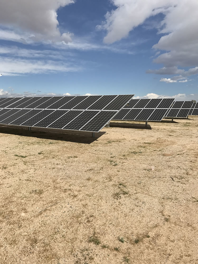 Indian Wells Valley Water District solar generation.