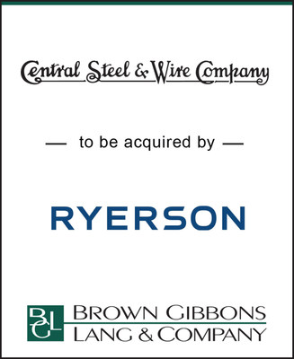 Brown Gibbons Lang & Company (BGL) acted as the lead financial advisor to Central Steel Wire, a leading metal service center with a strong reputation as a valued supply chain partner, in connection with its pending sale to Ryerson Holding Corporation (Ryerson). The transaction was announced on June 5, 2018, and is expected to close during the third quarter of 2018, subject to regulatory approval.