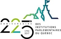 Logo: 225e anniversaire des institutions parlementaires du Québec (CNW Group/Assemblée nationale du Québec)