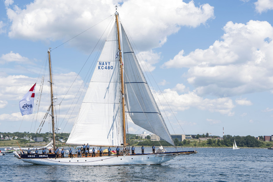 The Royal Canadian Navy will be docking the HMCS Oriole at HTO Park. The majestic tall ship was first launched nearly a century ago and hasn't sailed the Great Lakes for 25 years. (CNW Group/Water's Edge Festivals & Events)