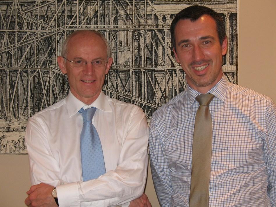 Professor Benoît Van den Eynde, Co-founder and Mr Michel Detheux, Co-founder and CEO of Iteos (PRNewsfoto/VIVES)