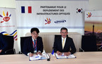 (Left) M. Giljoo Ra, CEO of DASAN FRANCE, (Right) M. Benoit Mérel, COO&CFO of TDF group