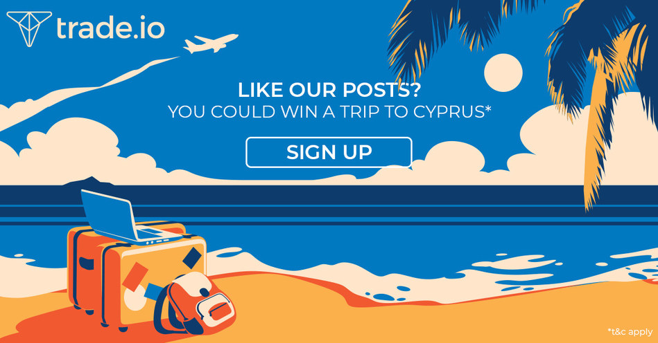 DARE TO SHARE COMPETITION TO WIN THE TRIP OF A LIFETIME. 90 winners win a fully paid holiday to the sunny island of Cyprus and 1 top winner will win the luxury holiday of a lifetime worth $100,000 by staying active on your own social channels and sharing and engaging with trade.io posts on social media. (PRNewsfoto/trade.io)