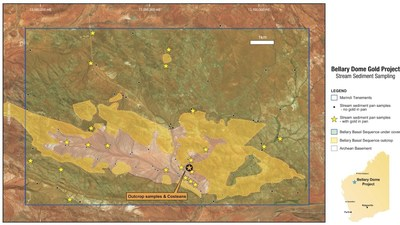 Figure 4: Bellary Dome Gold Project – Stream Sediment Sampling (CNW Group/Pacton Gold Inc.)