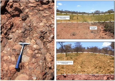 Figure 6: Bellary Dome Project – Identified Conglomerate Horizon (CNW Group/Pacton Gold Inc.)