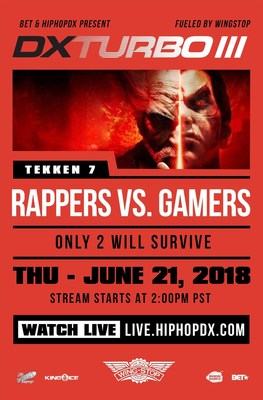 BET & Wingstop To Host HipHopDX's 3rd Annual Rappers VS Gamers Tag-Team Tournament: DX TURBO III