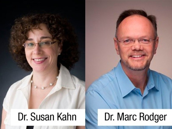 Dr Susan Kahn Dr Marc Rodger (CNW Group/Palais des congrès de Montréal)