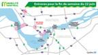 Entraves pour la fin de semaine du 22 juin (Groupe CNW/Ministère des Transports, de la Mobilité durable et de l'Électrification des transports)