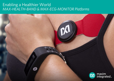 Maxim Integrated enables a healthier world with MAX-HEALTH-BAND and MAX-ECG-MONITOR wearable platforms for health and fitness applications.