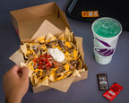 The $5 Steak Nachos Box takes classic nachos to the next level. With a double serving of flavorful, marinated steak and premium nacho toppings served over a bed of crispy tortilla chips, plus a drink, there's no better way to spend $5.