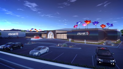 Planet 13 Superstore, located close to the Las Vegas strip, is expected to be the largest cannabis entertainment complex in the world. (CNW Group/Planet 13)
