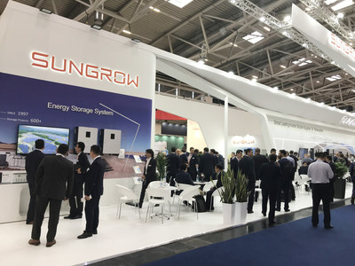 Sungrow booth at Intersolar Europe 2018