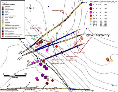 Figure 5: Aamurusko NW (new discovery) (CNW Group/Aurion Resources Ltd.)