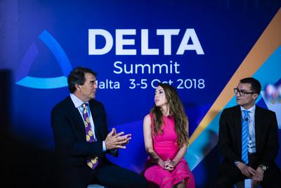 Tim Draper and Silvio Schembri at the Launch of DELTA Summit