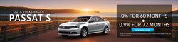 The 2018 Volkswagen Passat is offered with APR financing as low as 0 percent.