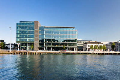The exterior of the offices at 1 Albert Quay. Forcepoint has one floor in the building.