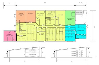 Proposed Cudahy Floor Plan & Facility Layout (CNW Group/High Hampton Holdings Corp.)