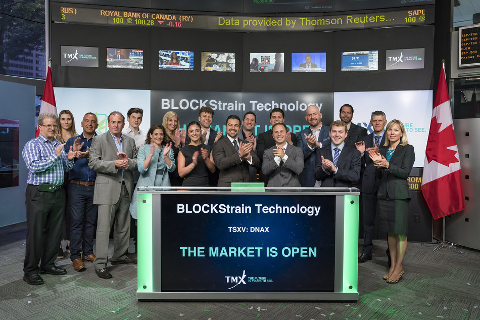 BLOCKStrain Technology Corp. Opens the Market (CNW Group/TMX Group Limited)