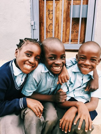 These smiling faces are looking forward to their new school being built by Fort Worth, Texas-based Arise Africa and supported by National League Cy Young Award Winner Clayton Kershaw.