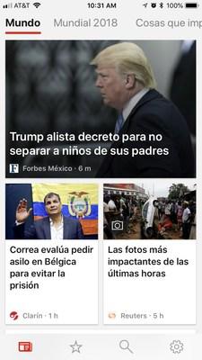 La app de Microsoft News para Android