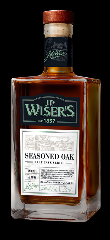 J.P. Wiser's releases limited edition bottle: Seasoned Oak. (CNW Group/Corby Spirit and Wine Communications)