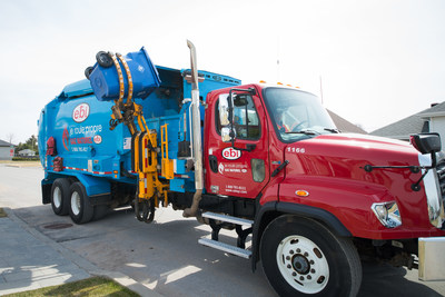 The Fonds de solidarité FTQ invests $70 million in EBI. The Berthierville-based company has one of the largest fleets of natural gas trucks in Québec as well as the largest network of public compressed natural gas refuelling stations. (CNW Group/Fonds de solidarité FTQ)