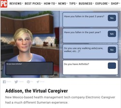 ADDISON CARE: Virtual Caregiver System poised to dramatically reduce cost of home health care