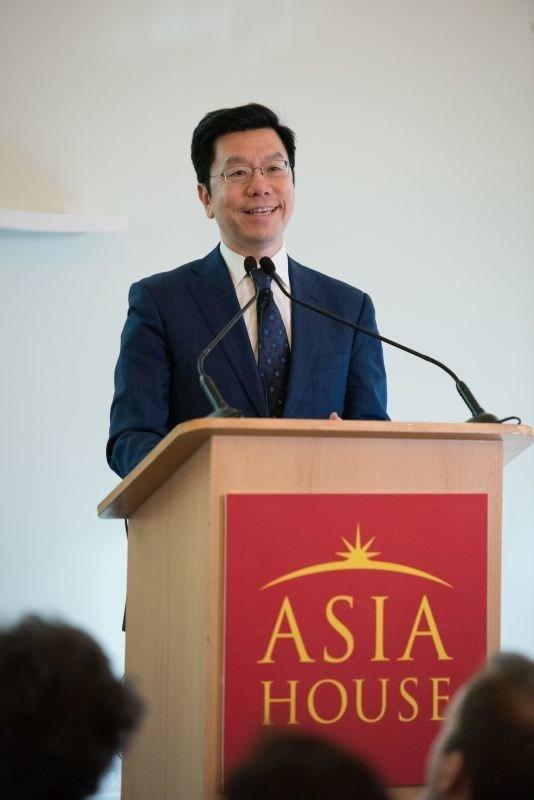 Kai-Fu Lee speaking at London's Asia House (PRNewsfoto/Asia House)